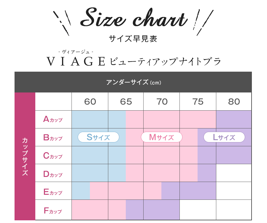 ヴィアージュのサイズ